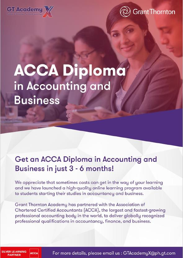 ACCA Diploma in Accounting and Business Program